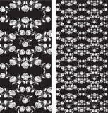 Jogo de rosas sem emenda teste padrão, papel de parede Fotografia de Stock