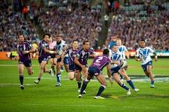 Jogo de rugby Imagem de Stock
