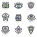 Jogo de símbolo do olho ilustração do vetor