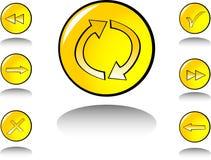 Jogo de símbolo do Web Fotos de Stock
