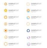 Jogo de símbolos corporativos do logotipo do vetor Fotos de Stock