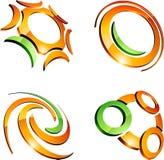 Jogo de símbolos da companhia. ilustração stock