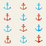 Jogo de símbolos da escora Vetor Imagem de Stock Royalty Free
