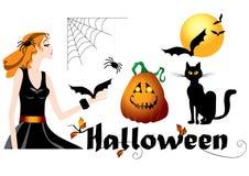 Jogo de símbolos de Halloween Imagem de Stock