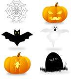 Jogo de símbolos de Halloween Fotos de Stock Royalty Free