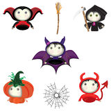 Jogo de símbolos de Halloween Imagens de Stock