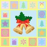 Jogo de símbolos do Natal Foto de Stock