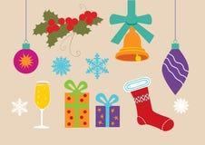 Jogo de símbolos do Natal Imagem de Stock Royalty Free