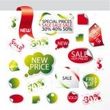 Jogo de símbolos editable fáceis do mercado Imagens de Stock