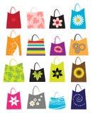 Jogo de sacos de compra ilustração stock