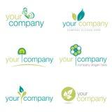 Jogo de seis logotipos da natureza Imagem de Stock Royalty Free