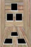 Jogo de seis polaroids em branco velhos Imagens de Stock Royalty Free