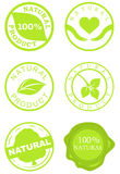 Jogo de selos do produto natural ilustração stock