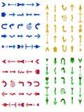 Jogo de setas diferentes em quatro sentidos Ilustração do Vetor