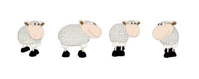 Jogo de Sheeps. Ilustração do Vetor
