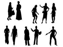 Jogo de silhuetas das mulheres ilustração stock