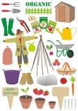 Jogo de sinais de jardinagem fotografia de stock