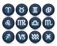 Jogo de sinais do zodíaco Fotografia de Stock Royalty Free