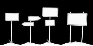 Jogo de sinais em branco Imagem de Stock