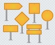 Jogo de sinais de estrada ilustração royalty free