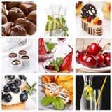 Jogo de sobremesas diferentes fotografia de stock