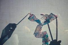 Jogo de sombra chinês Imagens de Stock