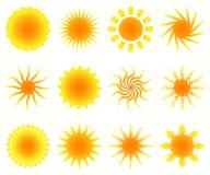 Jogo de Sun Foto de Stock