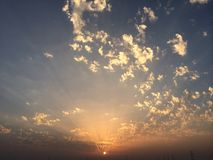 Jogo de Sun Fotografia de Stock Royalty Free