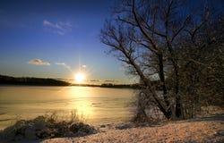 Jogo de Sun do inverno Foto de Stock Royalty Free