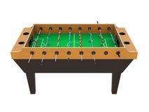 Jogo de tabela do futebol de Foosball isolado Imagem de Stock