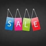 Jogo de Tag coloridos para a venda ilustração stock