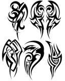 Jogo de tatuagens tribais Imagens de Stock