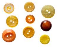 Jogo de teclas amarelas isoladas Imagem de Stock Royalty Free