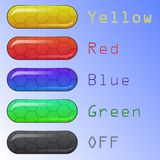 Jogo de teclas coloridas do Web ilustração do vetor