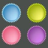 Jogo de teclas coloridas do Web Fotografia de Stock