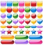 Jogo de teclas coloridas do Web site Imagem de Stock Royalty Free