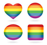 Jogo de teclas do arco-íris Fotos de Stock Royalty Free