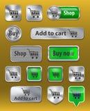 Jogo de teclas do Web do comércio eletrônico ilustração royalty free