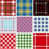 Jogo de testes padrões da manta Imagens de Stock Royalty Free