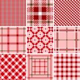 Jogo de testes padrões da manta Imagens de Stock