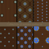 Jogo de testes padrões florais Imagens de Stock