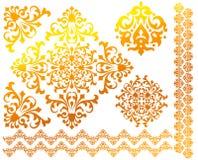 Jogo de testes padrões florais do vetor Imagens de Stock Royalty Free