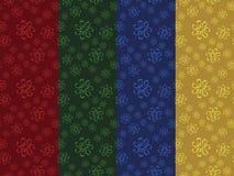 Jogo de testes padrões florais sem emenda Imagem de Stock