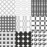 Jogo de testes padrões geométricos monocromáticos Fotos de Stock Royalty Free