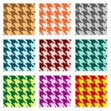 Jogo de testes padrões sem emenda Imagens de Stock Royalty Free