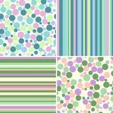Jogo de testes padrões sem emenda abstratos Fotografia de Stock