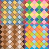 Jogo de testes padrões sem emenda do vetor Imagens de Stock