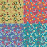 Jogo de testes padrões sem emenda do vetor Imagens de Stock Royalty Free