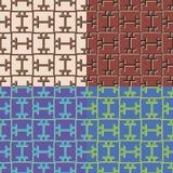 Jogo de testes padrões sem emenda geométricos Imagens de Stock