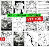 Jogo de texturas do grunge Fotografia de Stock Royalty Free
